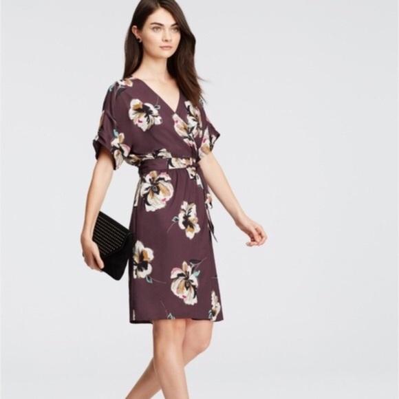 Ann Taylor Dresses Ann Taylor Kimono Style Wrap Dress Poshmark